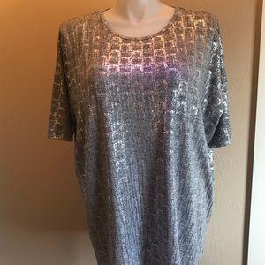 Lularoe silver sparkle top